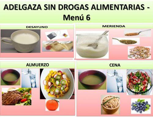 Adelgaza sin drogas alimentarias- Menú 6