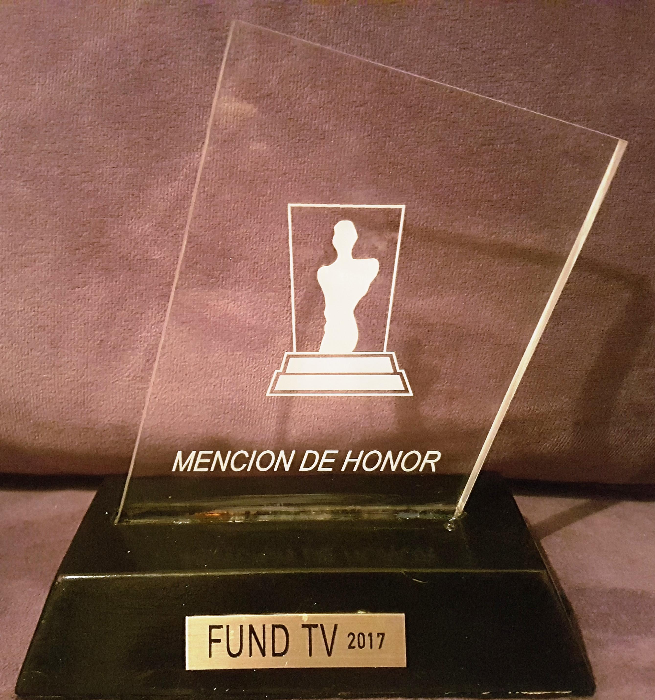 PREMIO FUND TV- ALIMENTA TU VIDA- Distinción de Honor por los 10 años de trayectoria en METRO